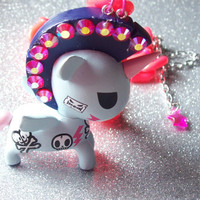 Tokidoki Punk Unicorn Necklace with Free Stud Earrings