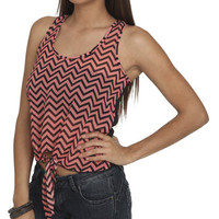 Chevron Front Chiffon Tank | Shop Junior Clothing at Wet Seal