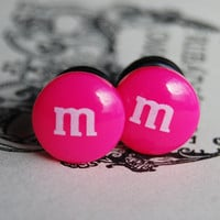 0g 8mm Hot Pink Chocolate Candy plugs for by theriveriseverywhere