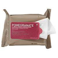 Korres Pomegranate Cleansing & Make Up Removing Wipes For Oily And Combination Skin: Shop Makeup Rem