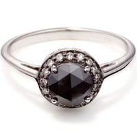 Anna Sheffield Round Black Diamond Rosette Ring