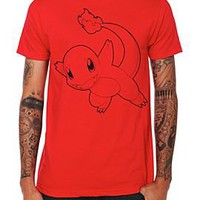 Pokemon Charmander Outline T-Shirt - 362113