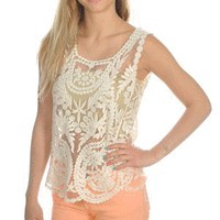 Anything's Poshible Tank in Ivory - Tops