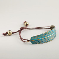 Green Leaf Friendship Bracelet | World Market