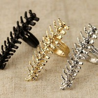 Punk Style Skeleton Cocktail Ring at Online Jewelry Store Gofavor
