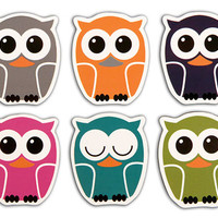 Kikkerland Design Inc   » Products  » Vinyl Owl Magnets