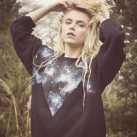 Hand painted Zig zag Galaxy Jumper from We Are Hairy People