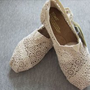 New Gift Authentic Toms Shoes womens toms classic crochet cream US ALL size free postage in casual