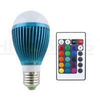HitLights BLUE-MOON Multi Color 9W RGB Changing LED Globe Light Bulb, Super Bright Mood Light with Upgraded Remote Memory Function Since 3/6/13