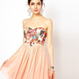Ginger Fizz Tutu Dress In Cherub Print at asos.com