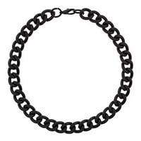 Black Chunky Chain Necklace