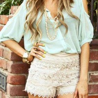 Ultra Feminine Lace Shorts