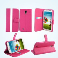 Amazon.com: Bear Motion (TM) Premium Folio Case for Samsung Galaxy S4 - Hot Pink: Cell Phones & Accessories