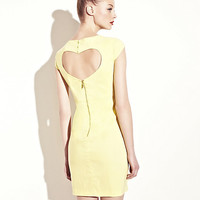 BetseyJohnson.com - DRESS WITH HEART CUTOUT YELLOW