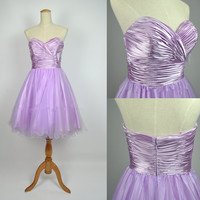 Cheap 2013 New Style Ball Gown Strapless Sweetheart Knee Length Lilac Prom Homecoming Bridesmaid Evening Dresses