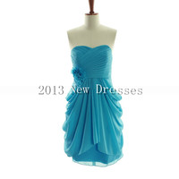 New 2013 Cheap Amazing A-line empire waist chiffon dress for bridesmaid Prom Evening Dresses Party Dresses
