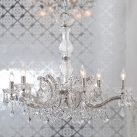crystal chandelier- clear
