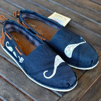 Many Mustache Denim Bimini Women's Stitchouts TOMS shoes
