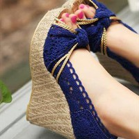 Cylo Lace Wedge Shoes from sniksa