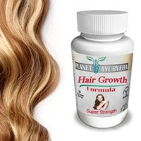 Grow Longer, Thicker Hair Products - by Planet Ayurveda - 100% Safe Herbal Hair Growth Pills for Fast Hair Growth Super Strength formula for longer hair thicker fuller hair. Naturally Stronger Growing Hair. 60 hair pills tablets. Grow Hair Fast!: Beauty