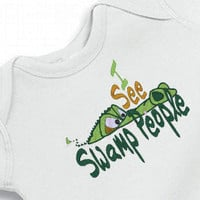 Onesuit I see Swamp People Bodysuit  for the Baby by JustSewHappens