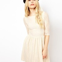 River Island Lace Skater Dress at asos.com