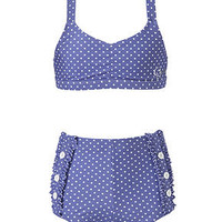 GUESS Kids Swim, Girls Two-Piece Dot-Print Swimsuit - Kids Girls 7-16 - Macy&#x27;s