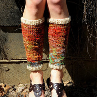 Knit leg warmers, wool leggings, knit leggings, wool leg warmers, winter accessories