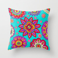 Floral Pattern Throw Pillow by PeriwinklePeacoat