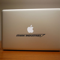 Stark Industries Macbook Decal & iPad Decal by DecalForThat