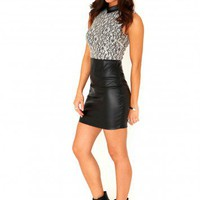 Missguided - Lastri Sleeveless Lace Contrast Dress