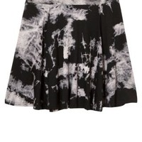 New Look Mobile | Black Tie Dye Skater Skirt