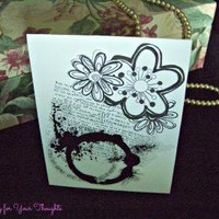 Enjoy Life Fully Handmade All Occasion Card by APenny4UrThoughts on Zibbet