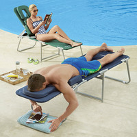face down lounge chairs at BrookstoneBuy Now!