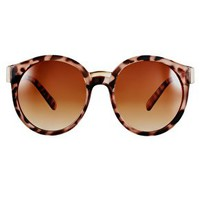 ASOS Round Sunglasses With Mixed Bridge Detail at asos.com