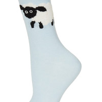 Big Fluffy Sheep Ankle Socks - Tights &amp; Socks - Clothing - Topshop USA