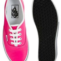 Vans Authentic Neon Leather Trainers
