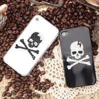 Original Skull Crystal Bling Bling Phone Case for Couple