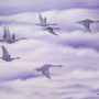 Purple Clouds Original Oil painting Made on 16 x 20 Stretched Canvas