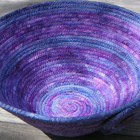 Medium Coiled Fabric Basket, Fabric Bowl