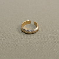 Gold filled organic leaf toe ring