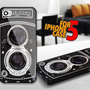 Vintage Camera Rolleicord for iPhone 5 Black case