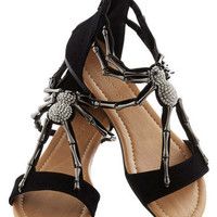 We Arachnid to Talk Sandal in Black | Mod Retro Vintage Sandals | ModCloth.com