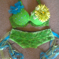 Custom Flower Hooper Outfits/ Custom Bras/ Rave Bras