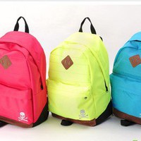 romefashion — ulticolored  colorful Neon simple Canvas Backpack
