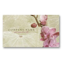 Orchid and Leaves Business Card from Zazzle.com