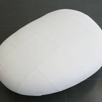 Design55 - 'Ishi White Leather Poof by Naoto Fukasawa