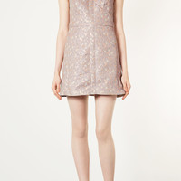 Floral Brocade Cut Out Dress - Dresses - Clothing - Topshop USA