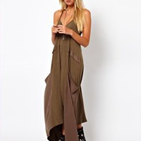 ASOS Maxi Dress With Drape Pockets at asos.com