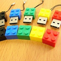 Lego Style 4GB USB Drive GREEN:Amazon:Sports & Outdoors